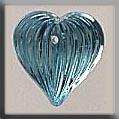 Glass Treasures Medium Fluted Heart-Aqua - Mill Hill