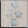 Glass Treasures Small Channeled Heart-Matte Opal - Mill Hill