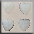 Glass Treasures Medium Chnld Heart-Matte Opal - Mill Hill