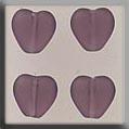Glass Treasures Medium Chnld Heart-Matte Amethys - Mill Hill