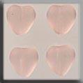 Glass Treasures Medium Chnld Heart-Matte Rosalin - Mill Hill