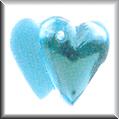 Glass Treasures Doubled Heart-Aquamarine - Mill Hill
