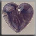 Glass Treasures Medium Quartz Heart-Purple - Mill Hill