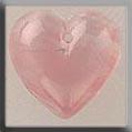 Glass Treasures Medium Quartz Heart-Pink - Mill Hill