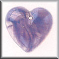 Glass Treasures Large Quartz Heart-Purple - Mill Hill