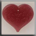 Glass Treasures Large Floral Embossed Heart-Rose - Mill Hill