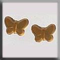Glass Treasures Butterfly-Light Matte Topaz (2) - Mill Hill