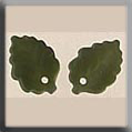 Glass Treasures Medium Leaf-Matte Olive (2) - Mill Hill