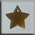 Glass Treasures Med. Star-Matte Light Topaz - Mill Hill