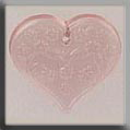 Glass Treasures Med. Floral Emb. Heart-Pale Rose - Mill Hill