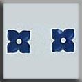 Glass Treasures 4 Petal Flower-Matte Sapphire (2) - Mill Hill