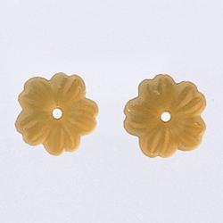 Glass Treasures Petite Flower Matte Light Topaz - Mill Hill