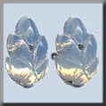 Glass Treasures Flower Petal WHITE Opal - Mill Hill