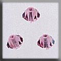 Crystal Treasures Rondele-Light Rose AB - Mill Hill