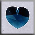 Crystal Treasures Small Heart-Emerald - Mill Hill