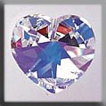 Crystal Treasures Large Heart-Crystal AB - Mill Hill