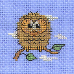 Borduurpakket Baby Owl - Mouseloft