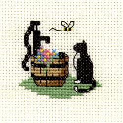 Borduurpakket Cat at Waterpump - Mouseloft