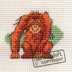 Cross Stitch Kit Orang-utan - Mouseloft