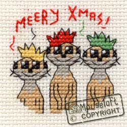 Cross stitch kit Meery Christmas - Mouseloft