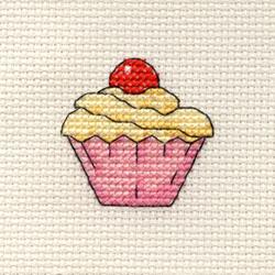 Cross Stitch Kit Cupcake - Mouseloft