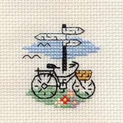 Borduurpakket Bicycle and Signpost - Mouseloft