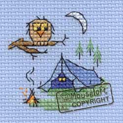 Borduurpakket Camping - Mouseloft