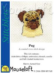 Borduurpakket Pug - Mouseloft