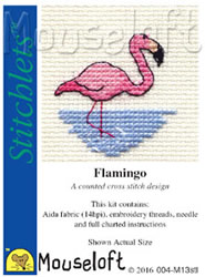 Borduurpakket Flamingo - Mouseloft