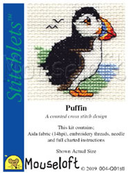 Cross stitch kit Puffin - Mouseloft
