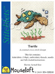 Cross stitch kit Turtle - Mouseloft