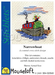 Cross stitch kit Narrowboat - Mouseloft