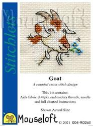 Borduurpakket Goat - Mouseloft