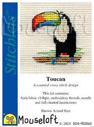 Borduurpakket Toucan - Mouseloft