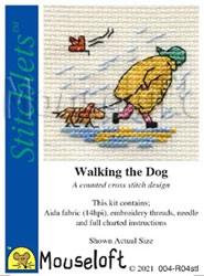 Borduurpakket Walking the Dog - Mouseloft