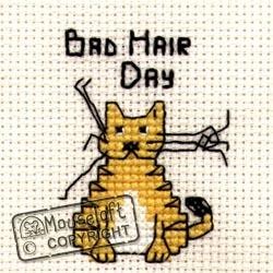 Borduurpakket Bad Hair Day - Mouseloft