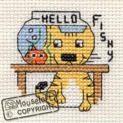 Cross Stitch Kit Hello Fishy - Mouseloft