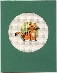 Cross Stitch Kit Tiger at the Zoo - Mouseloft