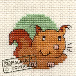 Borduurpakket Squirrel - Mouseloft