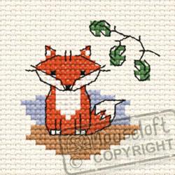 Cross Stitch Kit Ferdinand Fox in the Woods - Mouseloft