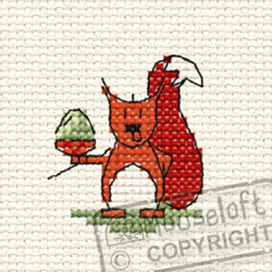 Cross Stitch Kit Cyril Squirrel in the Woods - Mouseloft