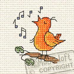 Cross Stitch Kit Chripy Bird in the Woods - Mouseloft