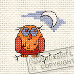 Cross Stitch Kit Old Ollie Owl in the Woods - Mouseloft