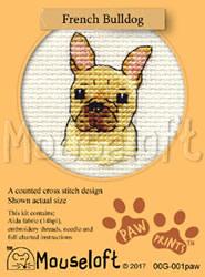 Cross stitch kit French Bulldog - Mouseloft