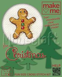 Borduurpakket Gingerbread Man - Mouseloft