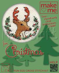 Borduurpakket Christmas Stag - Mouseloft