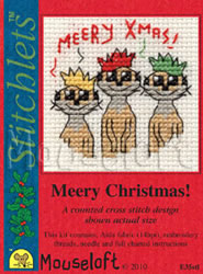 Borduurpakket Meery Christmas! - Mouseloft