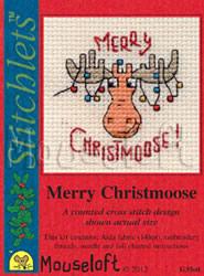 Borduurpakket Merry Christmoose - Mouseloft