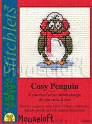 Borduurpakket Cosy Penguin - Mouseloft
