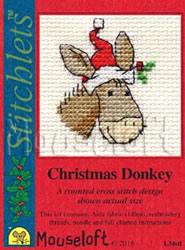 Borduurpakket Christmas Donkey - Mouseloft